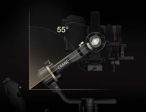Zhiyun Crane 3S diseño 55 grados